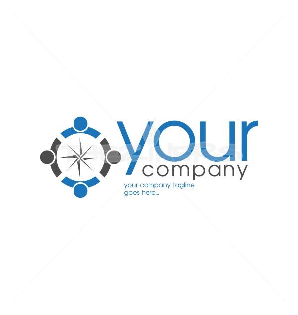 People Network Creative Help Non Profit Logo Template