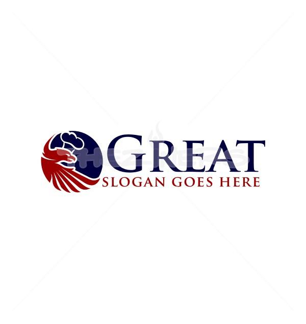 Blue Eagle Head Logo Template