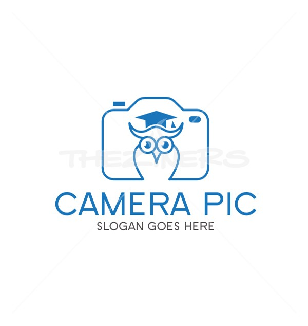 Owl Camera Picture Affordable Photography Logo Template