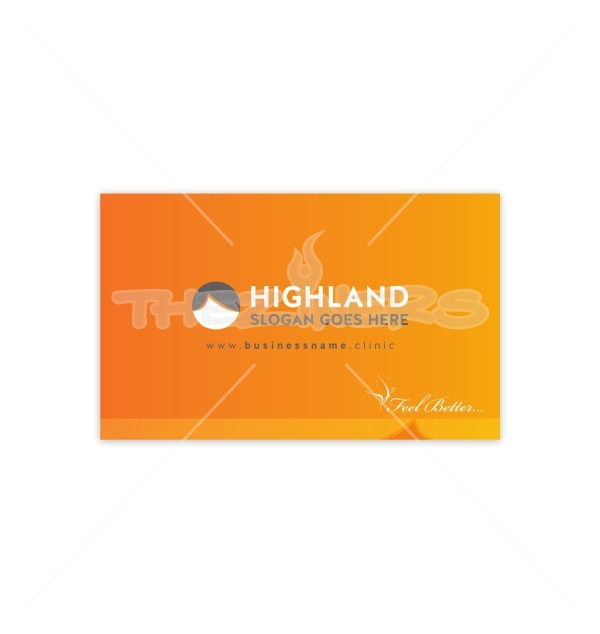 Feel better with orange background double sided business card template feel better with orange background double sided business card template by krishan reheart Choice Image