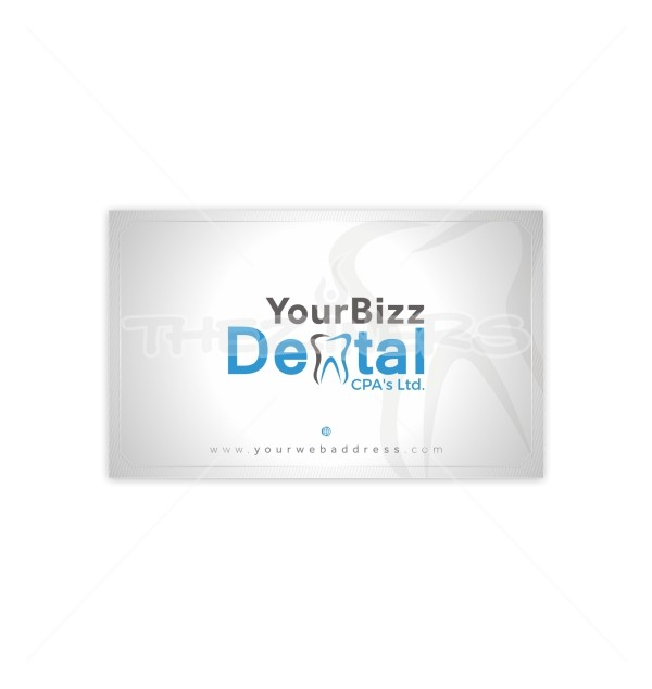 Dental DoubleSided Business Card Template - Double sided business card template