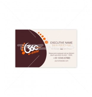 Simple Clean One Side Business Card - Single business card template