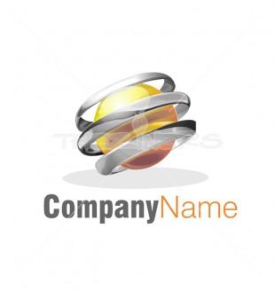 letter o 3d global logo template