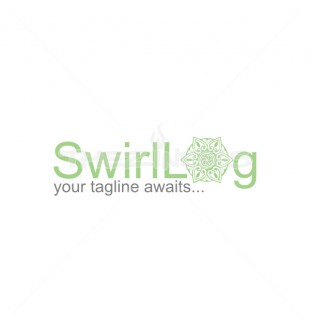 o letter swirl elegant flower logo template