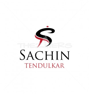 St Letter Sachin Tendulkar Stylish Logo Template