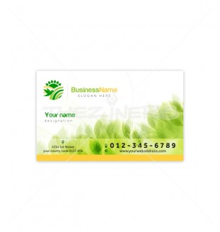 Green visiting card with nature theme green visiting card with nature theme by satnam reheart