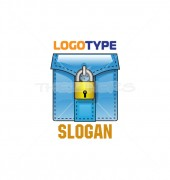 Security Lock Logo Design Vector