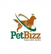 Dog King Abstract Animal Logo Template