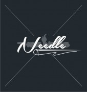 Needle Thread Mascot Creative Product Logo Template