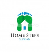 Home Steps Abstract Logo Outline