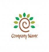E Letter Spiral Logo Template