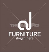 Furniture Design Abstract Product Logo Template