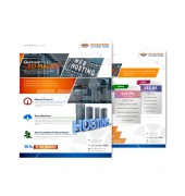 Web Hosting Flyer Front Back Template
