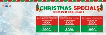 Christmas Newsletter Social Media Psd Template