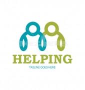 Teamwork Helping Logo Vector