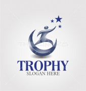 Education Trophy Media Logo Template