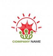 Community Sun Rise Logo Template