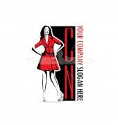 Fashion Illustration Manufacturing Premade Logo Design