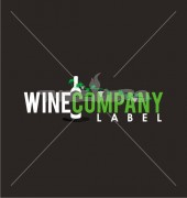 C Letter Wine Bottle Logo Template