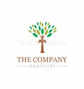 Abstract Tree Mortuary Logo Template