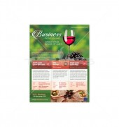 Wine Glass With Grapes Flyer Template