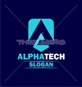 Alpha Tech Abstract Entertainment Logo Template