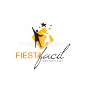 Dancing Couple Logo Design Vector