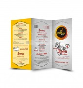 Food Restaurant  Trifold Template