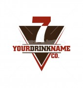Your Drink Name Abstract Product Logo Template