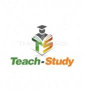 TS Letter Teach Study Logo Vector