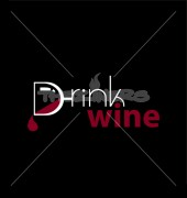 D Letter Drink Wine Logo Template
