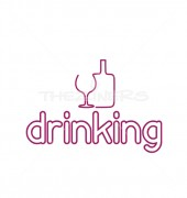 Abstract Drinking Logo Template