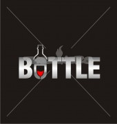 Wine Bottle City Food & Bar Logo Template