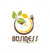 Healthy Food Burger Street Logo Template