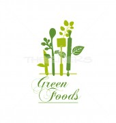 Green Foods Wine & Bar Logo Template