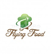 Flaying Food & Bar Logo Template