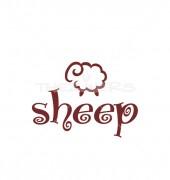 Cute Sheep Creative Logo Template