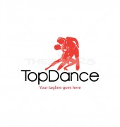 Dance School Dancing Media Logo Template