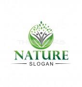 Natural Brain Creative Health Care Logo Template