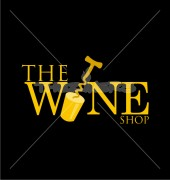 The Wine Shop Burger Street Logo Template