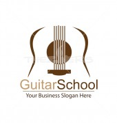 Guitar School Dancing Media Logo Template