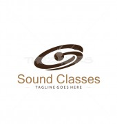 Sound Classes Abstract Premade Logo Design