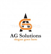 AG Letter Logo Template for Group of Financial & Other Solutions