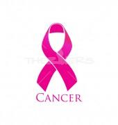 Breast Cancer Ribbon Elegant Healthcare Solutions Logo Design