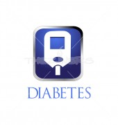 Stop Diabetes Medical Solution Logo Template