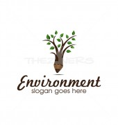 Green Environment Child Education Logo Template