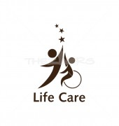 Life Care Creative Child Logo Template