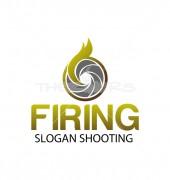 Shooting Range Firing Logo Template
