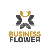 Business Flower Premade Elite Logo Template