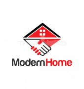 Modern Home Logo Symbol